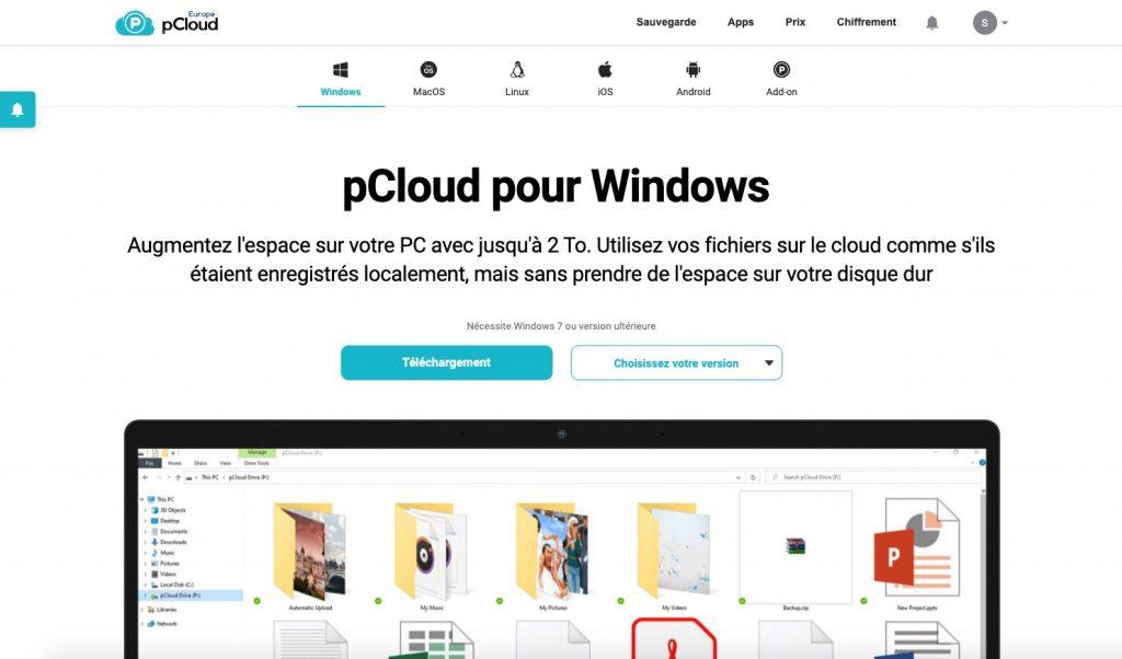 pCloud stockage et sauvegarde en ligne